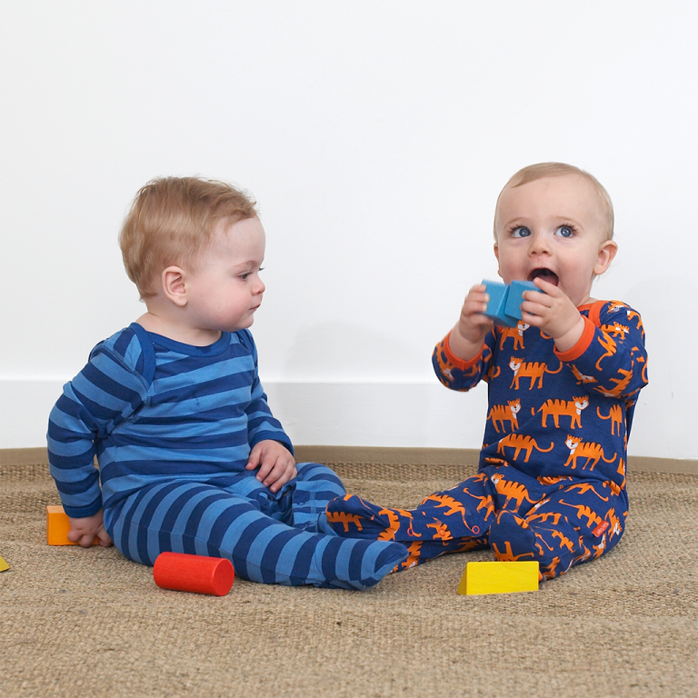 Tiger Babygrows 2 Pack – Organic Cotton Clothing